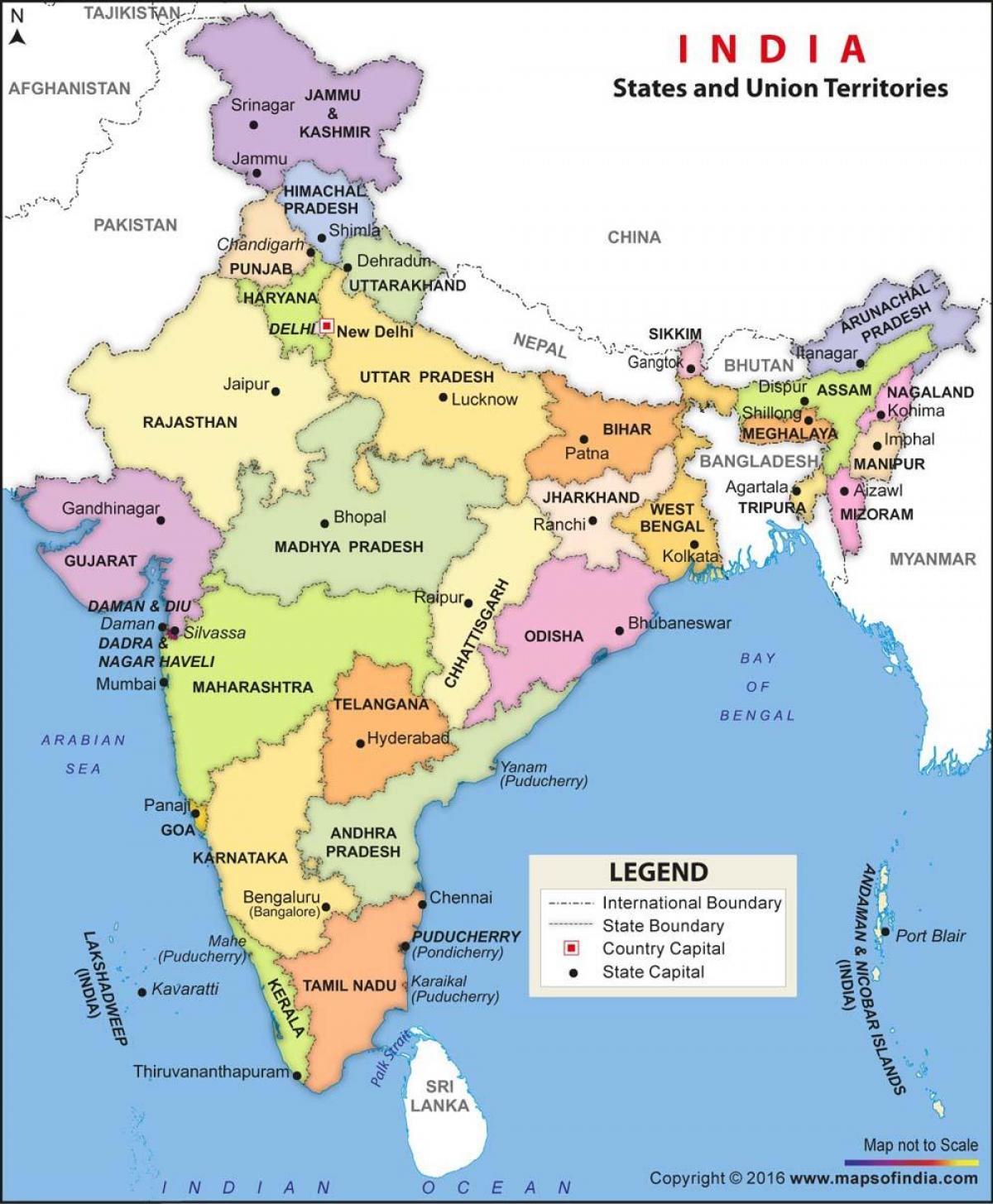 Rio Ganges Mapa Fisico.India Estados Politicos Mapa Mapa Politico Da India