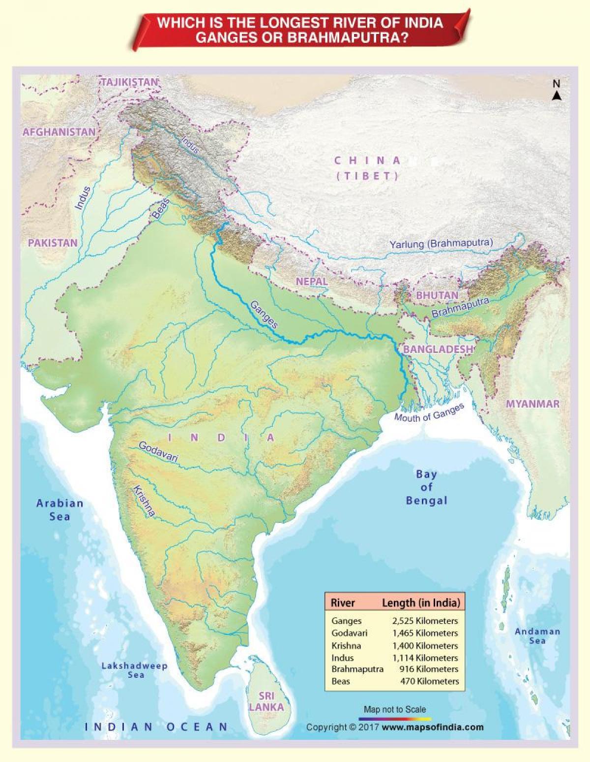Rio Ganges Mapa Fisico.Ganges Mapa Mapa