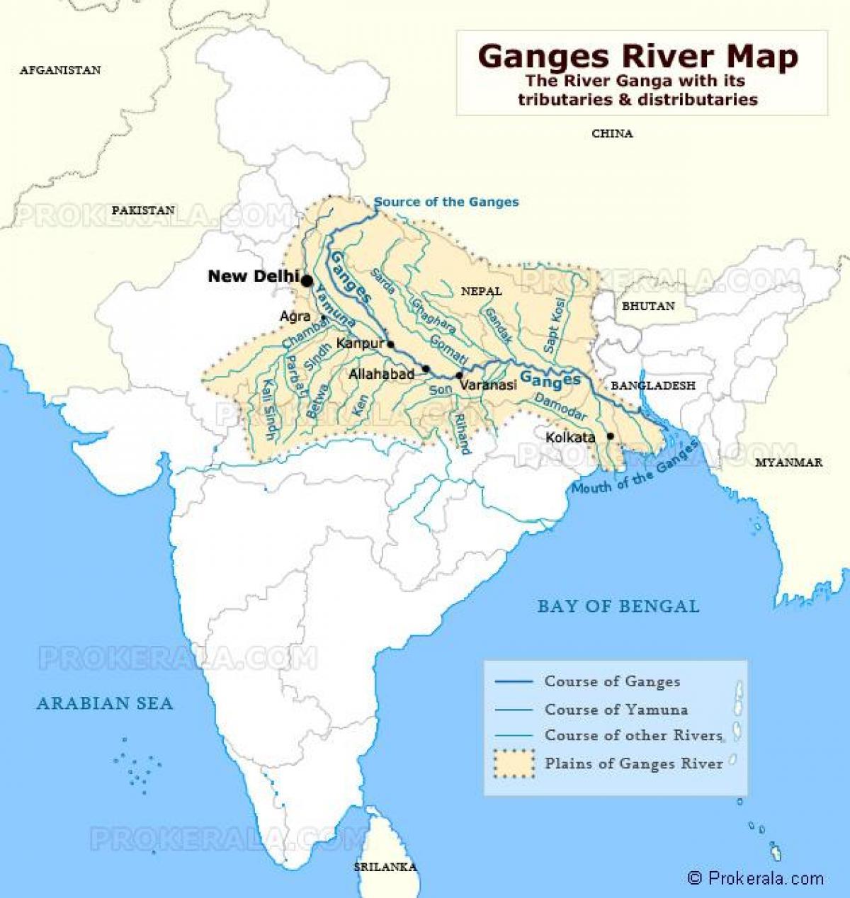 rio ganges mapa Rio ganges, na Índia, mapa   Índia rio ganges mapa (Sul da Ásia Ásia) rio ganges mapa