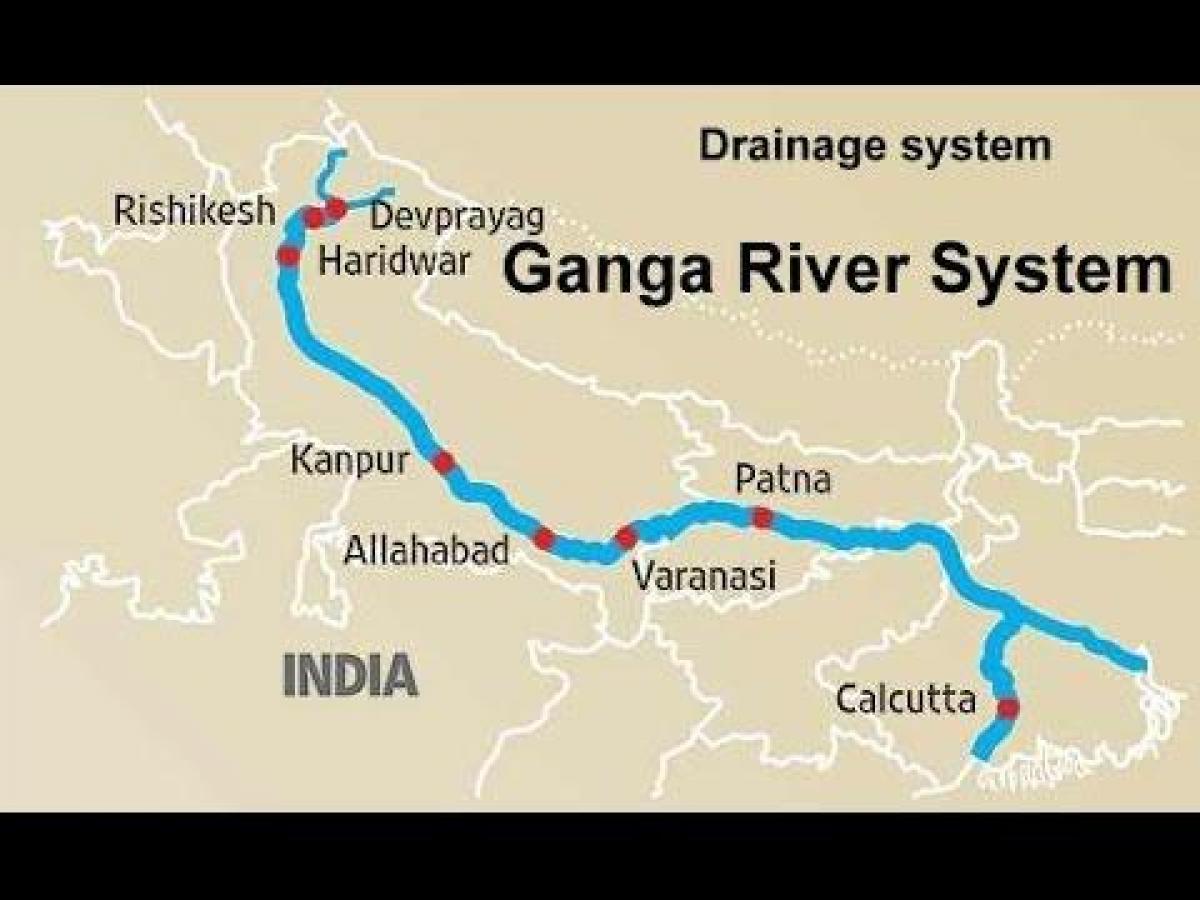 rio ganges mapa Rio ganges mapa em hindi   rio Ganges, na Índia, mapa (Sul da Ásia  rio ganges mapa